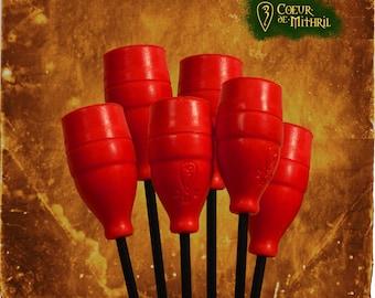 10 larp arrows head
