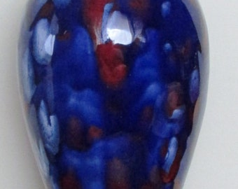 Blue Lidded Vase