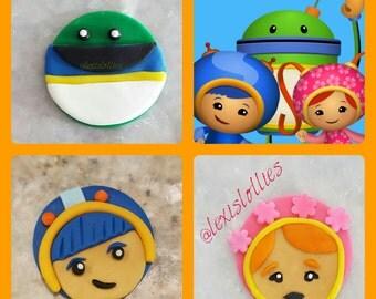 Team UMIZOOMI Cupcake or Oreo Toppers