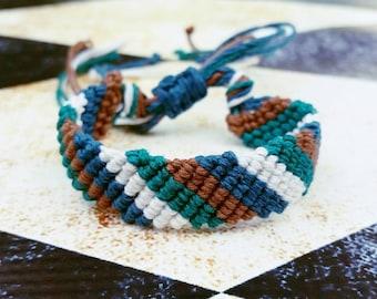 Sherbert Spiral Hemp Bracelet Macrame Jewelry By Wartickravels