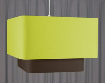 Double square lampshade 'Peapod/Brown 50'