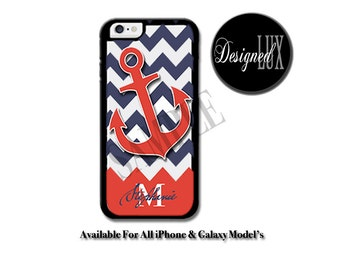 Anchor iPhone 6 Case/ Orange iPhone 6 Plus Case/ Personalized iPhone 5/5S Case/ iPhone 4/4s Case