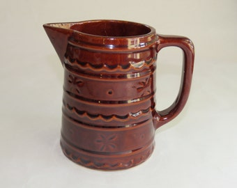 Marcrest pottery - brown pitcher