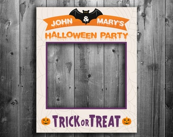 Customisable DIY Digital Halloween poster prop, add your name, giant diy photo, trick or treat, selfie prop, printable download diy prop