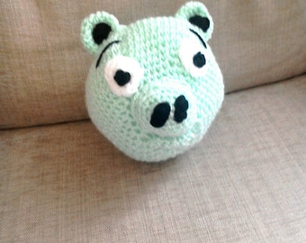 Angry Birds Pig Hand Crocheted Toy