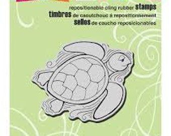 """Stampendous Cling Rubber Stamp, """"Pen Pattern Turtle"""" , Scrapbooking cling turtle stamp, Cardmaking cling stamp, Art journaling and Zentangle"""