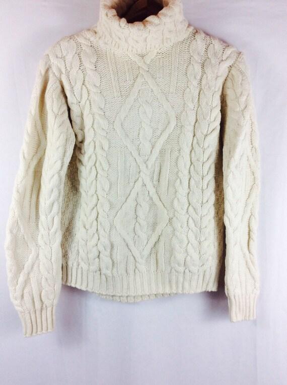 Fishermans Sweater White Womens 51