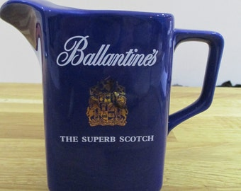Ballantines jug, scotch whiskey  jug , seton pottery. ref 2
