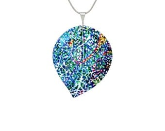 Abstract Leaf Turquoise Pendant/Jewelry/Fashion Jewellery
