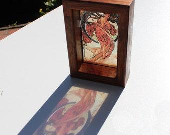 Alphonse Mucha Dance Lightbox see-through print