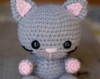 PATTERN: Crochet cat pattern - amigurumi cat pattern - crocheted kitten pattern - cat toy tutorial - PDF crochet pattern