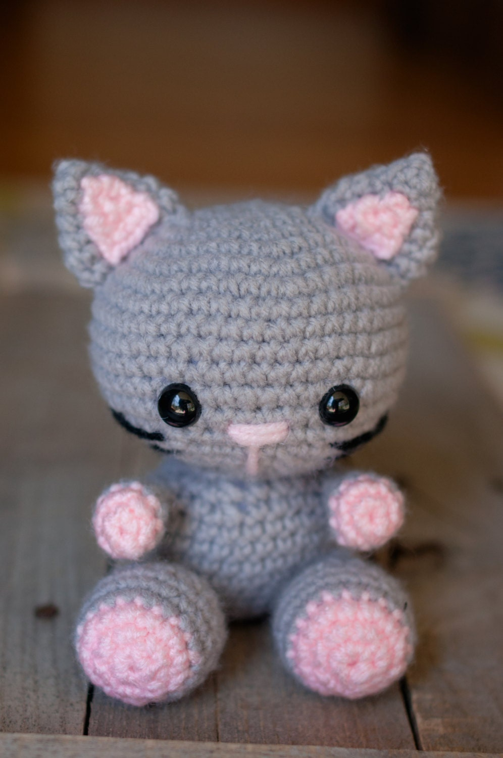 Knitted Amigurumi Cat Pattern : PATTERN: Crochet cat pattern amigurumi cat by ...