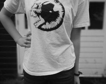Handmade Eye/Skull Design T-Shirt