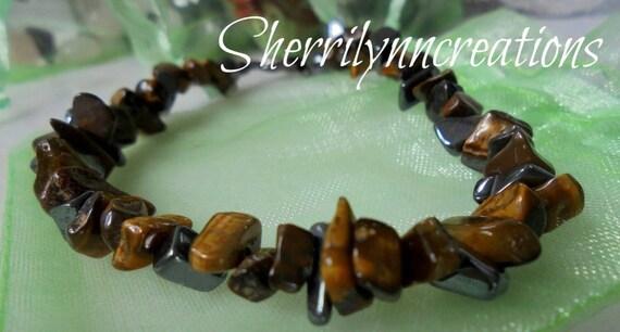 Tiger S Eye And Hematite Bracelet Gemstone Bracelet