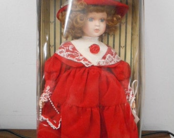 Vintage Holiday Gallery Genuine Porcelain Doll Special Collectors Edition- New in Box