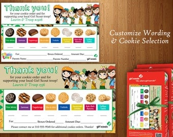 Girl Scout Thank You!! (Cookies  can be customized)