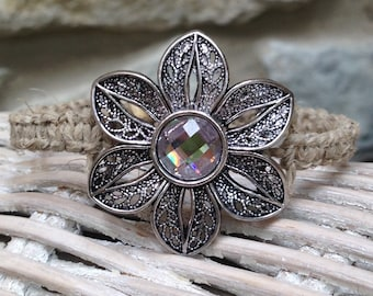 Flower hemp bracelet