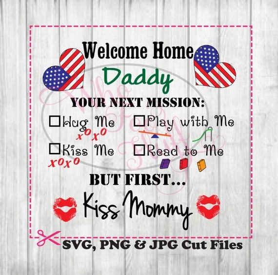 Military welcome home daddy clipart deployment svg diy for Welcome home troops decorations