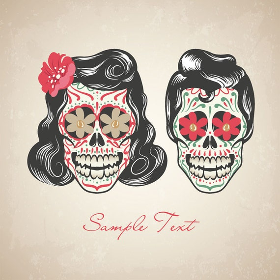 Sugar Skull Digital Pictures Day of the Dead Clip Art