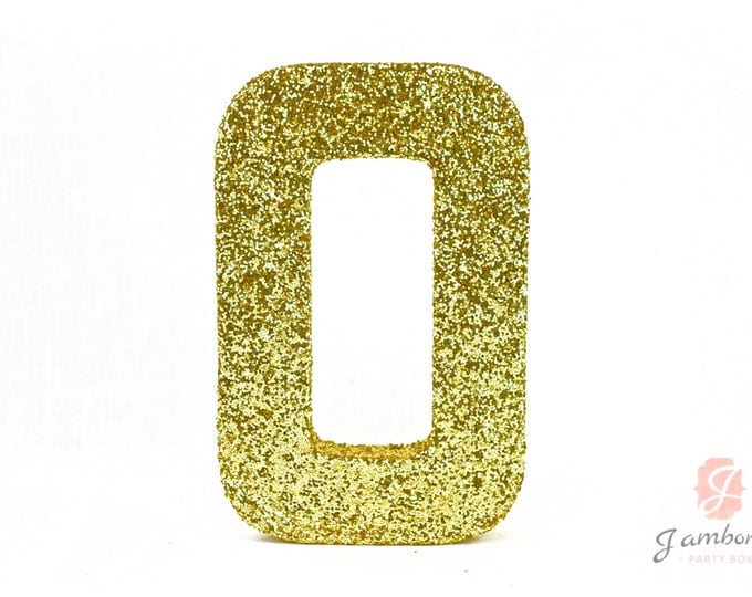 """8"""" Large Glitter Number (0-9) Pink Gold Silver White Mint Mauve Purple Red Birthday Glitter Prop Number, Glitter Number, Paper Mache"""
