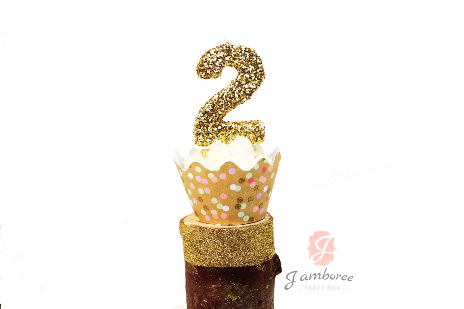 Gold Glitter Number 1 Birthday Candle By Pelemele 3 2