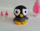 Crochet Mini Penguin Plush Amigurumi Preschooler Toy
