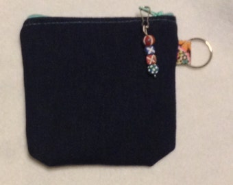 Denim coin purse