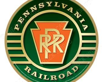 Pennsylvania Railroad Logo Wood Plaque / Sign