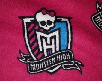 Monster High Fuschia Flannel Handmade Pillowcase Standard Size