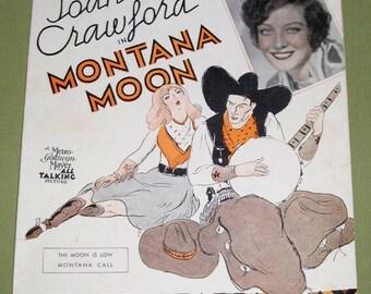 The Moon Is Low - Joan Crawford - Montana Moon Sheet Music 1930