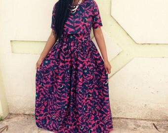 Ankara Maxi Skirt Set / African Print Skirt Set