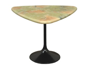 Vintage Mid Century Modern Resin Metal Tuilp Base Saarinen Style Side Accent Table A