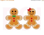 50% off Christmas in July Gingerbread boy and Girl, Christmas svg files, SVG, DXF, EPS, for use with Silhouette Cameo and Cricut Explore. Gi