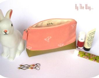 coton & gold Cosmetic bag  - makeup bag