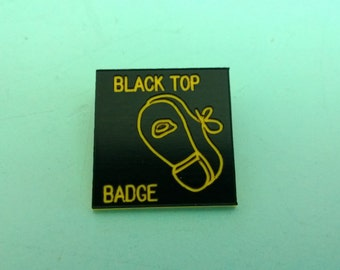 Vintage Square Dancing Black Top Badge Pin Free Shipping