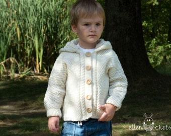 White merino wool sweater // hand knitted sweater