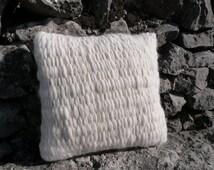 Cushion, cream cushion, chair cushion, wool cushion