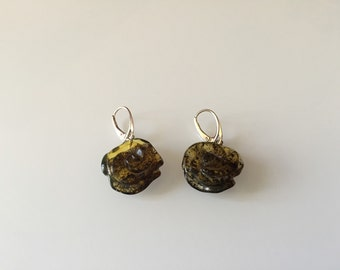 Natural baltic amber earings