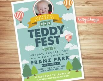 Festival Park Party // Kids Birthday Invitation // Party Invitation // Party in the Park // Printable or Printed Invites