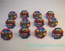 24 TRANSFORMERS Optimus Prime Bumble Bee Cupcake Ring Favor Supplies Rings Topper Birthday C