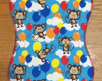 Burp Cloth, Monkeys & Balloons