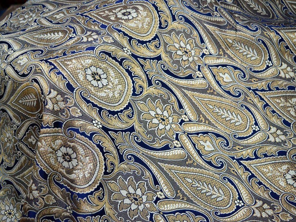Silk Brocade Fabric By The Yard Wedding Dress Fabric In
