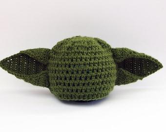 Yoda Baby Hat, Yoda baby costume, Star Wars Costume, Baby Yoda Hat, Newborn Yoda Hat, Star Wars Gift, Baby photography props