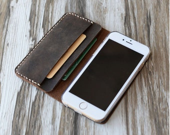 Personalized Leather IPhone 5 Case / iphone 5 wallet / iphone 6 case, 6 plus case, iPhone 5 wallet / iPhone 5s Case Wallet / iphone Leather