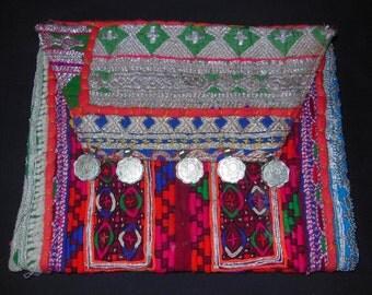 Vintage Banjara Gypsy Tribal Clutch Bag Purse W/Shoulder Strap n5