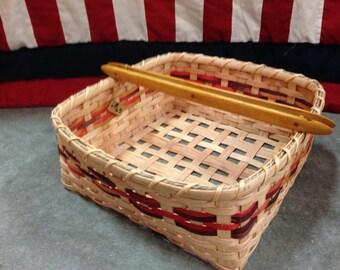 Weaving Shuttle Handle Basket
