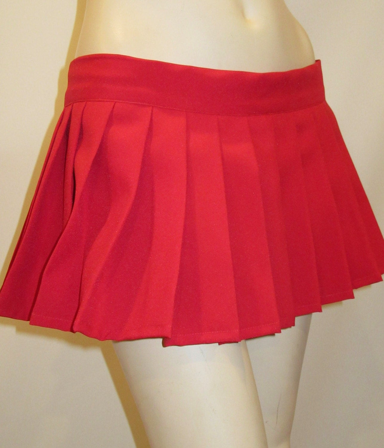 Red Pleated SkirtSexy Red Party Wear pub SkirtPleated Plaid