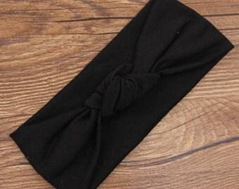 Ladies Turban style Headband - Black