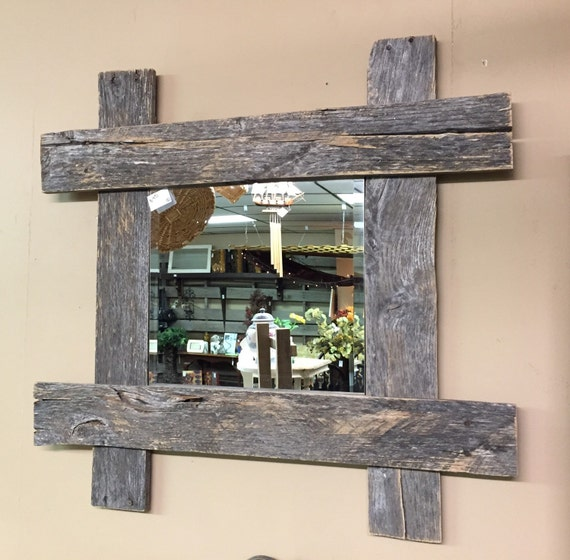 Rustic Pallet Furniture Wood Wall Mirror Rustic Home Decor