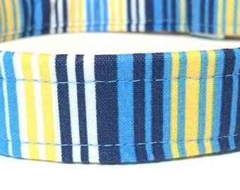 Sail Away Dog Collar ~ Striped Dog Collar ~ Boy Dog Collar